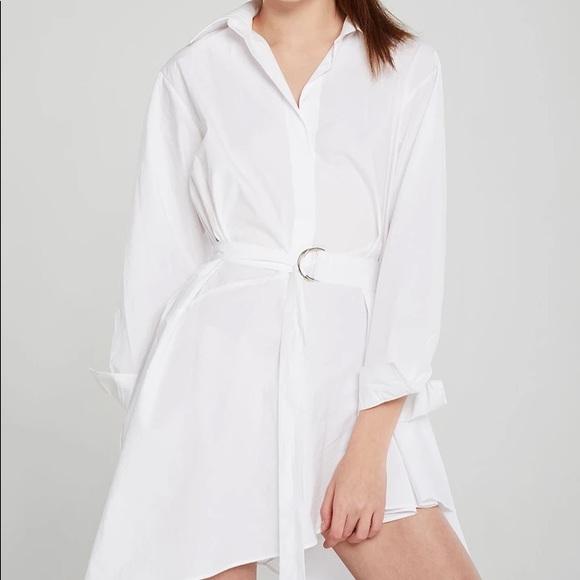 NEW Storets Asymmetric Summer Shirt Dress w/ Belt